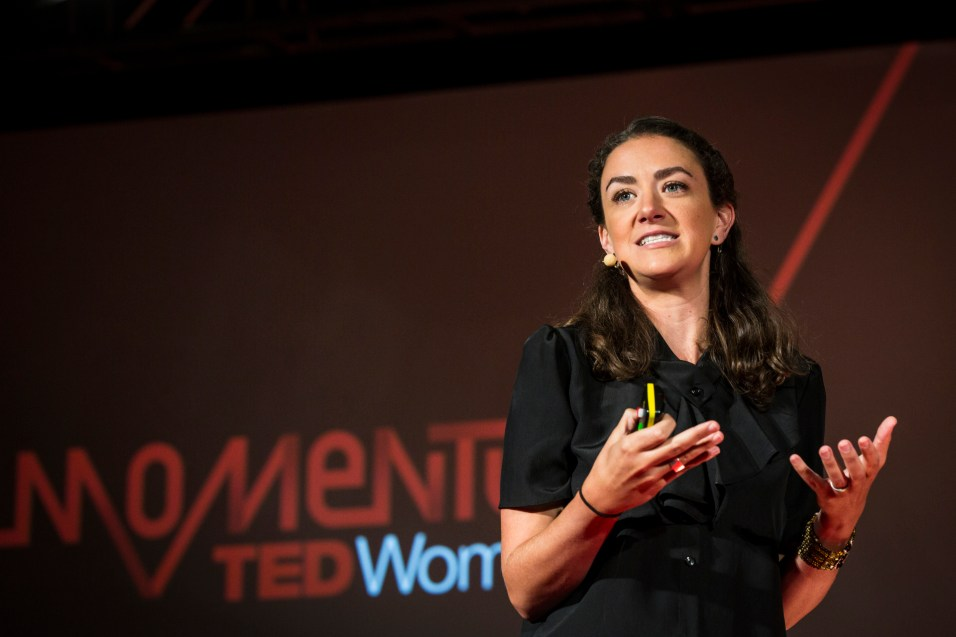 "Courtney E Martin speaks during ""The 19th Minute"" Learning Track session at TEDWomen2015 - Momentum, May 27, 2015, Monterey Conference Center, Monterey, California, USA Photo: Marla Aufmuth/TED"