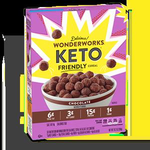 New at Heinen's - May, 2021 - Wonderworks Chocoalte Keto Friendly Cereal