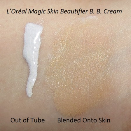 L'Oreal Magic Skin Beautifier BB Cream Swatch Blended