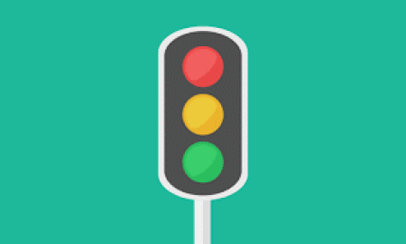 Red, yellow, and green color meanings: traffic lights