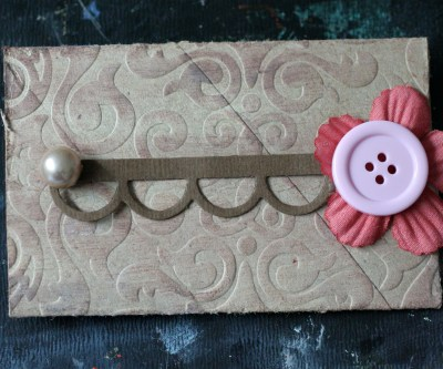 Toilet paper roll gift card holder