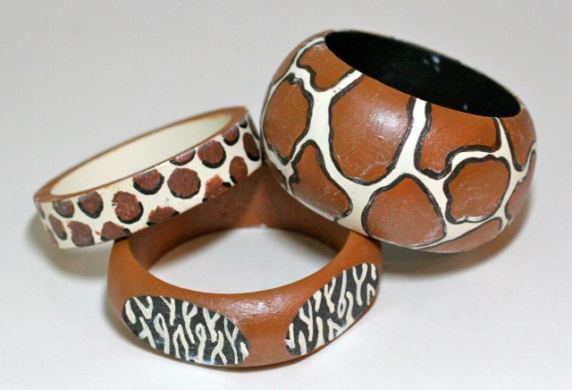 Hand painted animal print DIY bangles