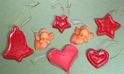 Wax Christmas Ornaments