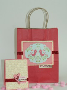 Coordinating Valentine Card and Valentine Gift bag