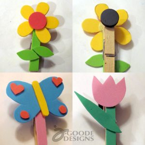 Clothespin magnets by Jen Goode
