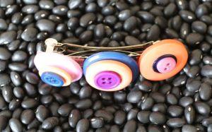 Stacked Button Barrette