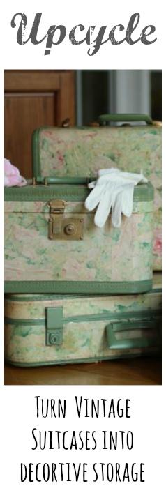 mod Podge Vintage Suitcase