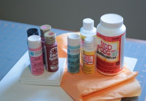 Mod Podge and Plaid Paints