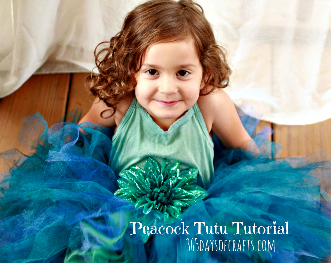Peacock Tutu Tutorial - DIY Halloween Costume
