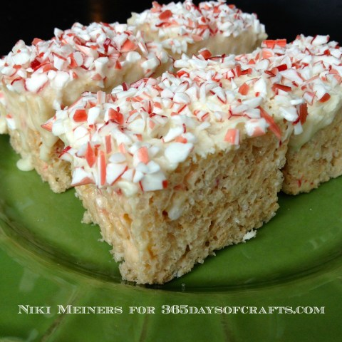 peppermint white chocolate cheesecake rice krispy