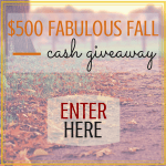 Fabulous Fall Cash Giveaway