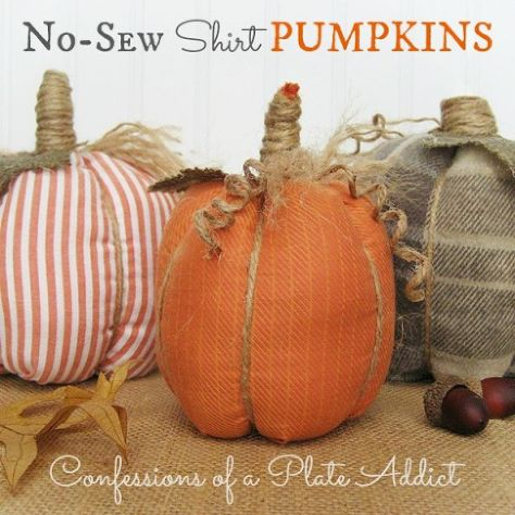 02 - Home Talk - No Sew Shirt Pumpkins