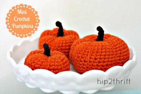 11 - Hip 2 Thrift - Mini Crochet Pumpkins