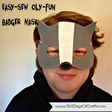 15 - 365 Days of Craft - 15 Minute Badger Mask