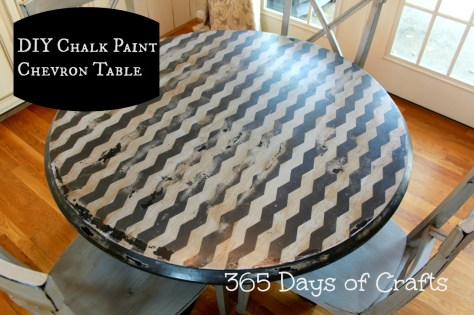 chalk paint chevron table diy shape tape