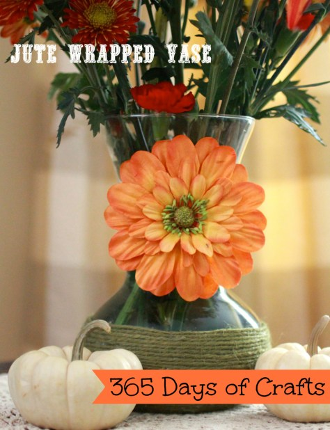jute wrapped vase