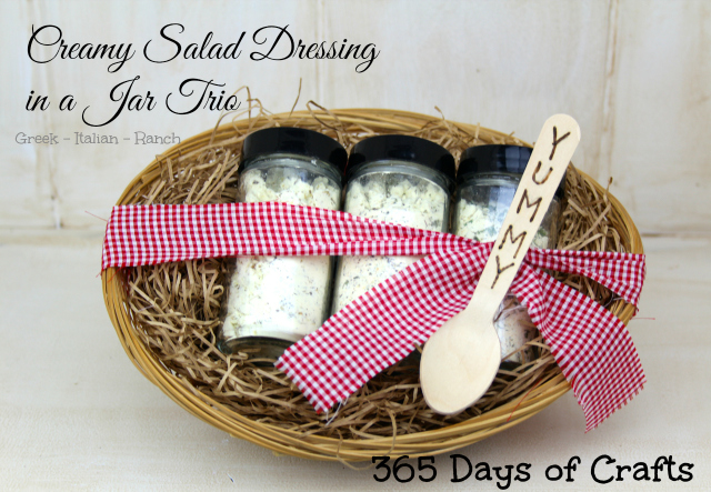 Creamy Salad Dressing in a jar trio
