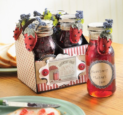 Strawberry Jam Recipe Gift Packaging Idea 365 Days Of