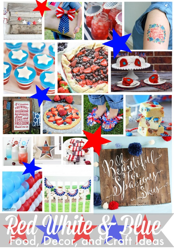 Red White and Blue Food Decor and Craft Ideas party decorations