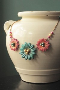 Casting Resin Necklace Fanciful Flowers