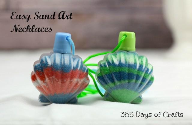 Sand art necklace