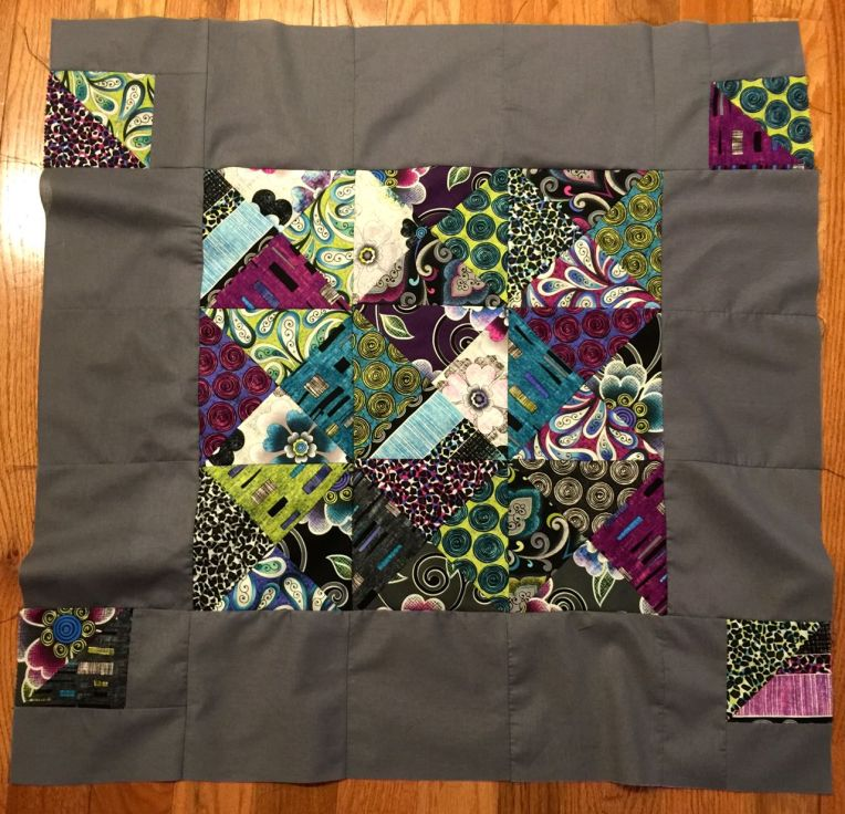 project linus top half square quilt top