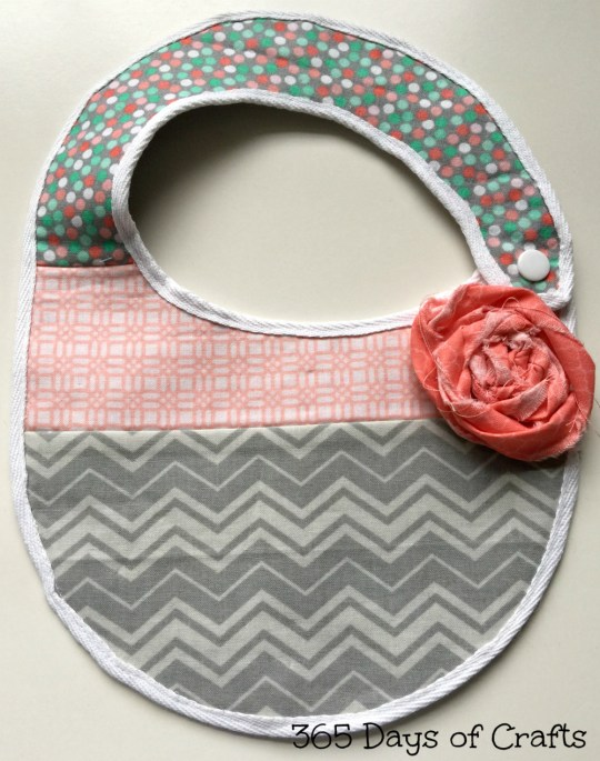 baby bib fabric flower rosette