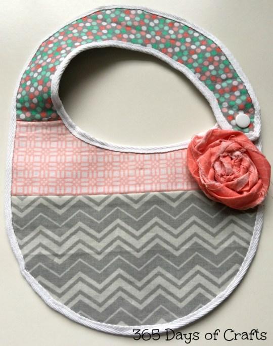 baby bib fabric flower rosette