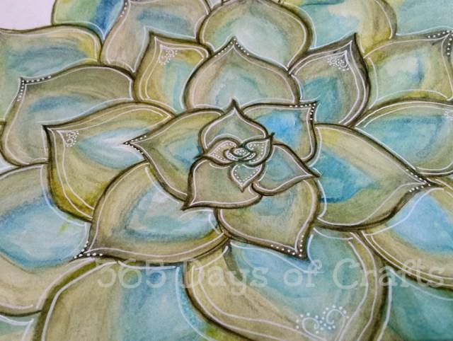 watercolor succulent 2