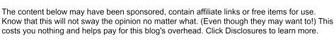 The content below may have been sponsored, contain affiliate links or free items for use. Know that this will not sway the opinion no matter what. (Even though they may want to!) This costs you nothing and helps pay for this blog's overhead. Click Diclosures to learn more.