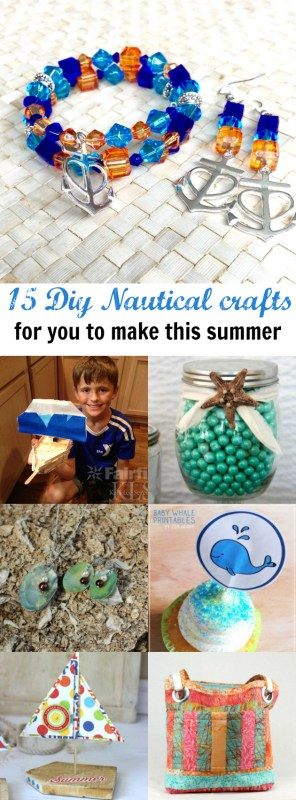 DIY Nautical Inspired Crafts Collage