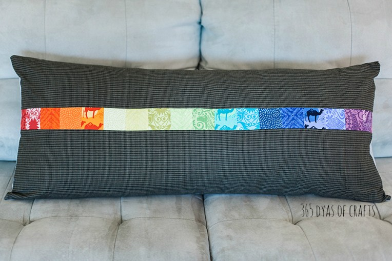 1 bench pillow with mini charm 365 days of crafts easy sew project