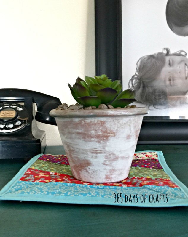 how to dry brush a terra cotta flower pot for a fast DIY mothers day gift idea