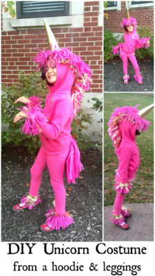 Make An Easy Unicorn Costume From Leggings And A Hoodie Diy