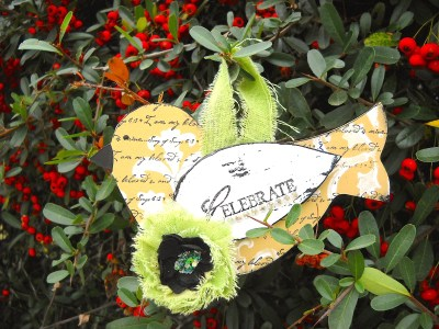 Mixed media bird christmas ornaments are a painted and stamped version of this bird Christmas ornament.