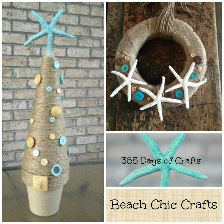 DIY Chic Coastal Christmas Decor you can make on a budget cheap and easy crafts