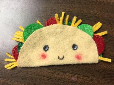 add stickles to felt taco.JPG