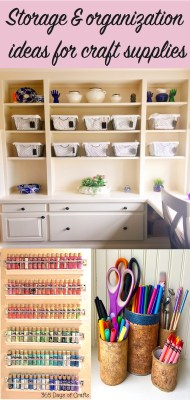 storage and organization ideas for craft supplies and craft room tour