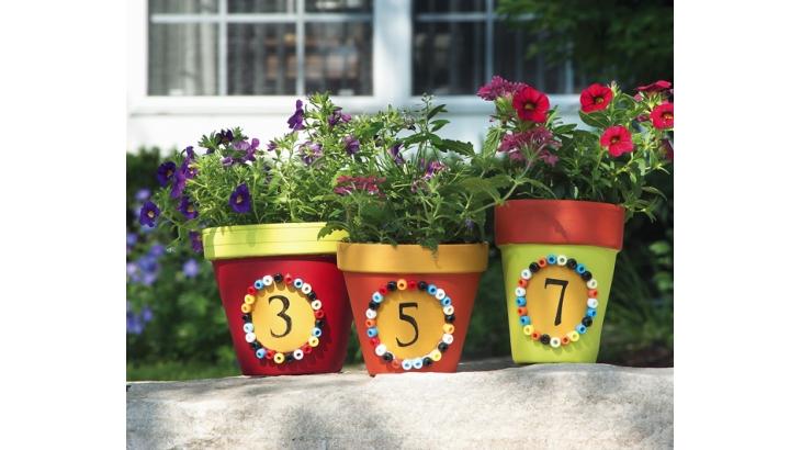 168 & Address Number Flower Pots - 365 Days of Crafts