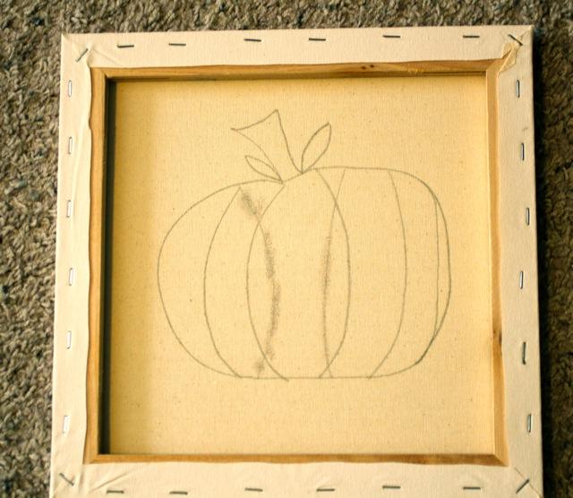 Make a DIY Fall button wall art canvas Pumpkin DecoArt Paint tutorial