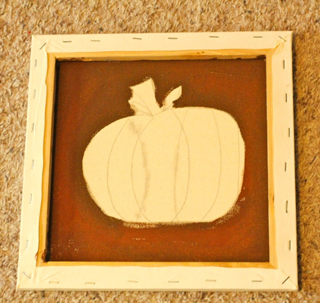 Make a DIY Fall button wall art canvas Pumpkin DecoArt Paint tutorial