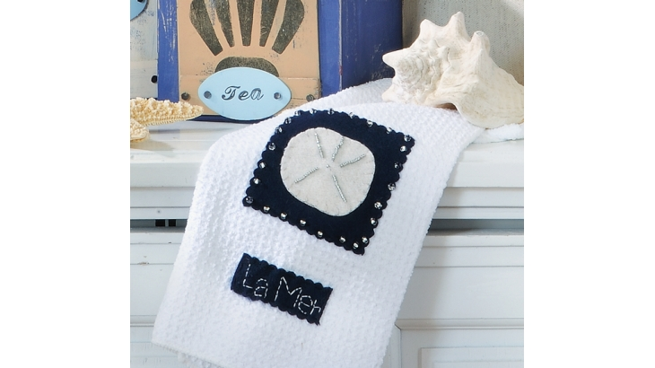 Sewing tutorial: Beach cottage tea towels