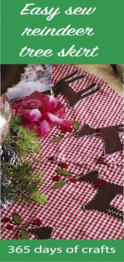Easy Sew Reindeer Tree Skirt Diy 365 Days Of Crafts