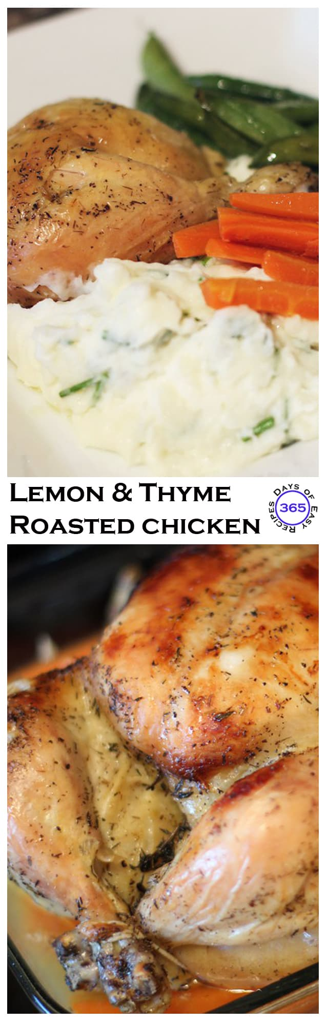 Lemon & Thyme Roasted Chicken | 365 Days of Easy Recipes