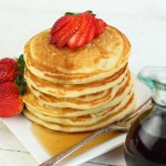 These fluffy buttermilk pancakes are the perfect accompaniment with eggs, bacon and fresh fruit or on their own, stacked high on a plate. Once you make this easy pancake recipe you'll never buy a box of pancake mix ever again. Even when you don't have buttermilk on hand, I share a trick to make your own!