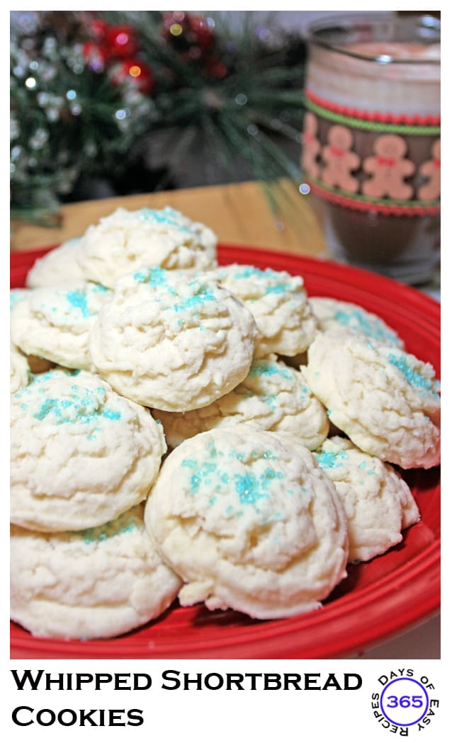 Whipped Shortbread Cookies | 12 Days of Easy Christmas Cookies 365daysofeasyrecipes.com