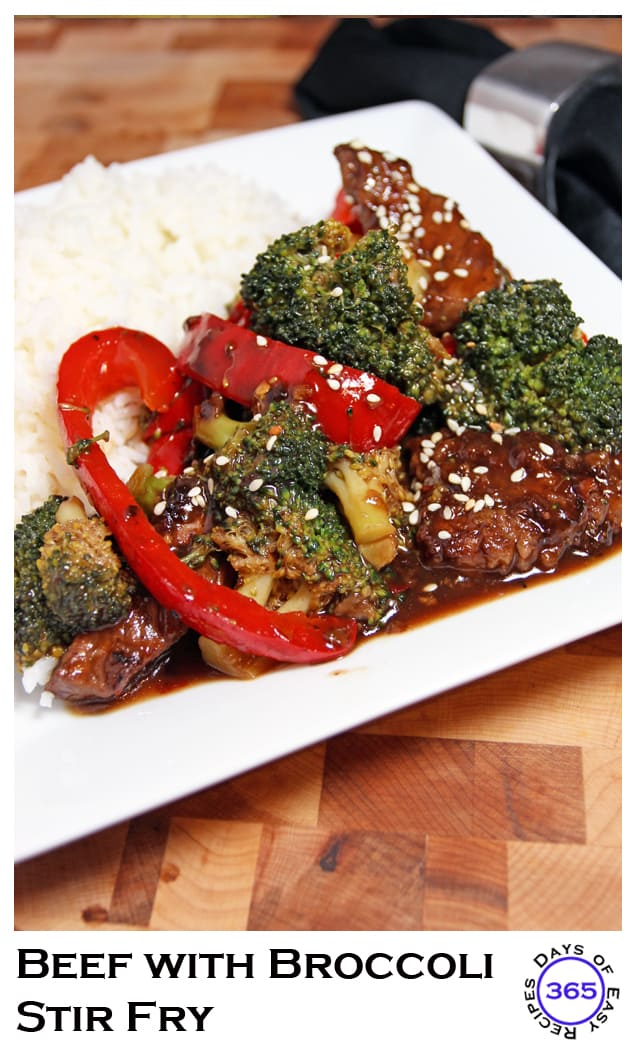 A quick, simple yet healthy dinner recipe: Beef with Broccoli Stir Fry | 365daysofeasyrecipes.com