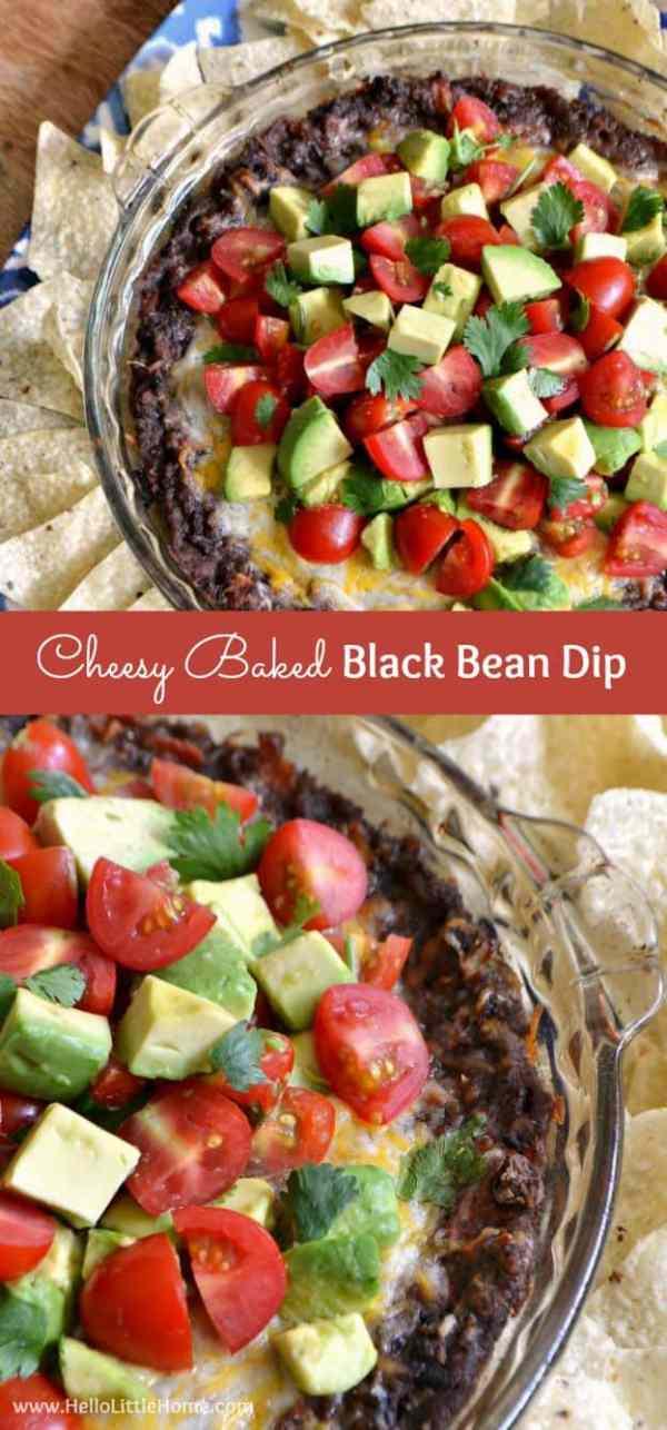 Cheesy Baked Black Bean Dip