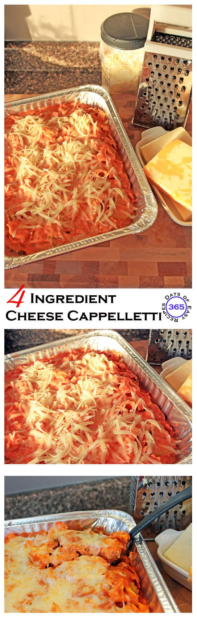 4 Ingredient Cheese Cappelletti | 365 Days of Easy Recipes