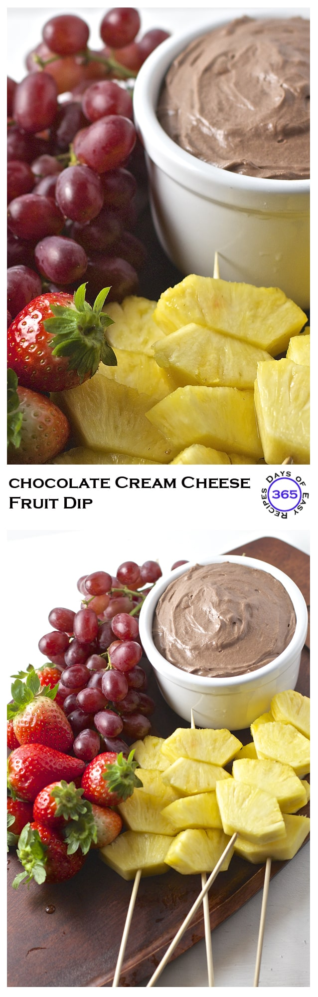 Chocolate Cream Cheese Fruit Dip | 365 Days of Easy Recipes